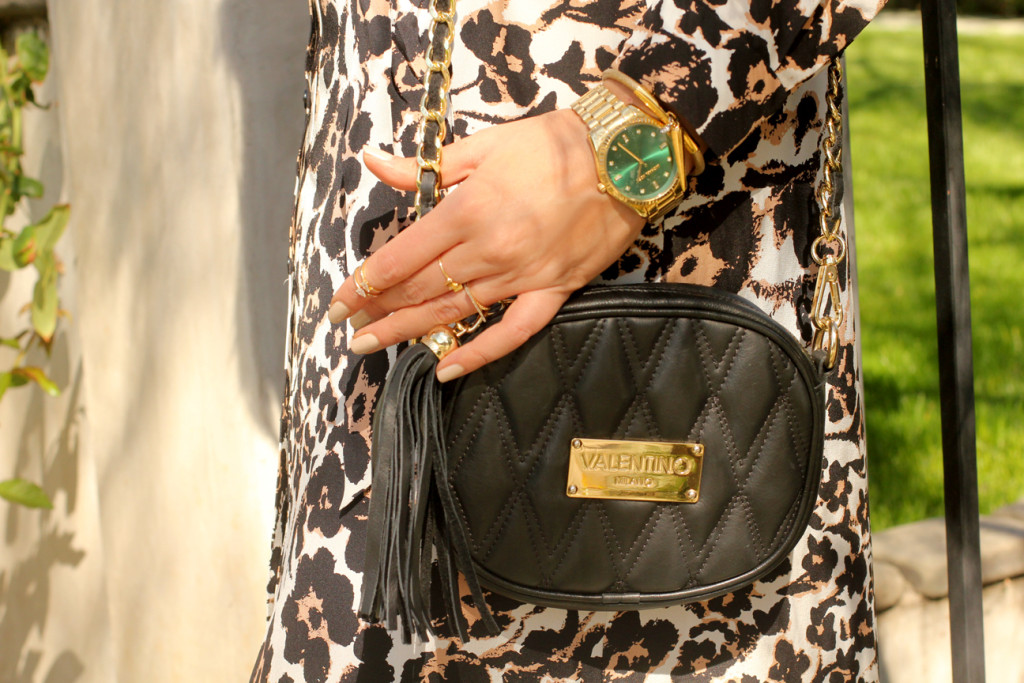 Valentino Nina Black Quilted Bag