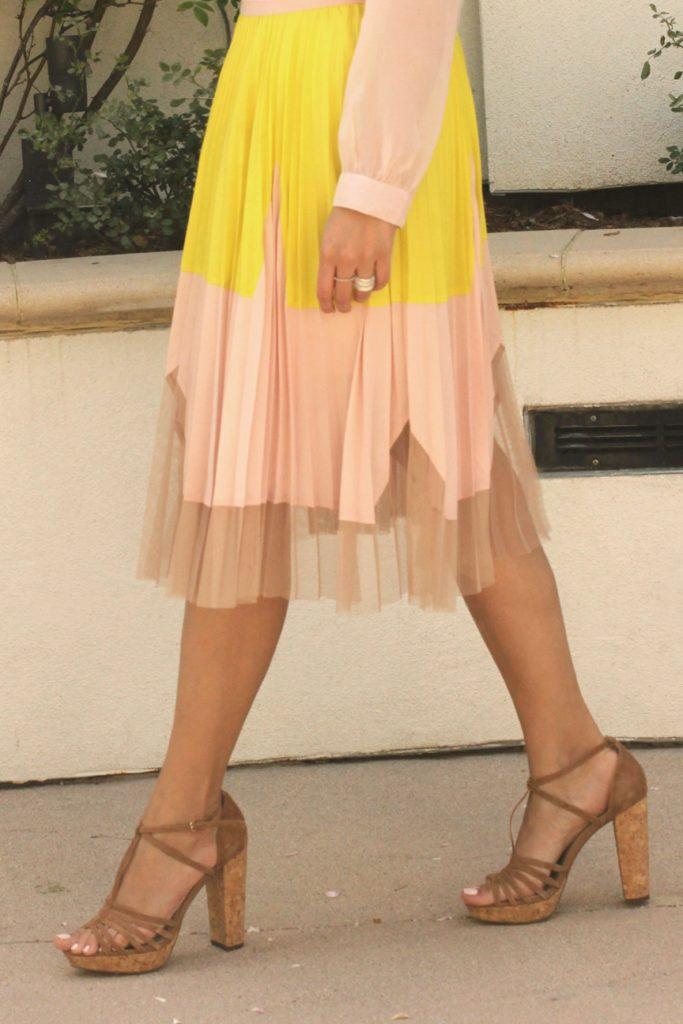 pastel textured skirt