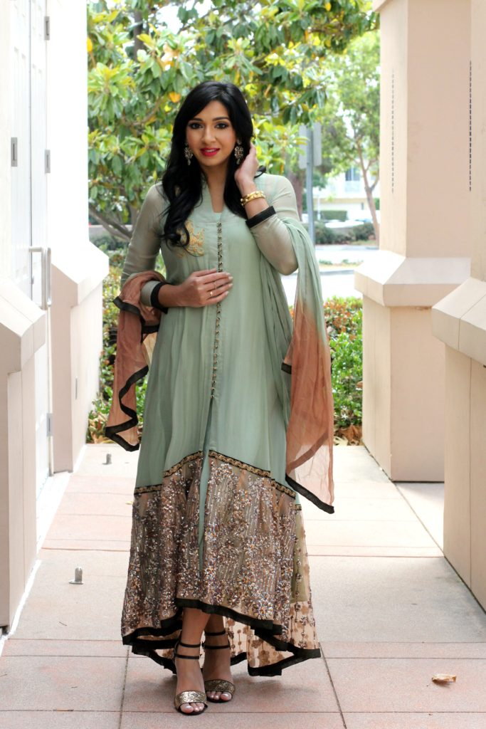 m full length chiffon suit