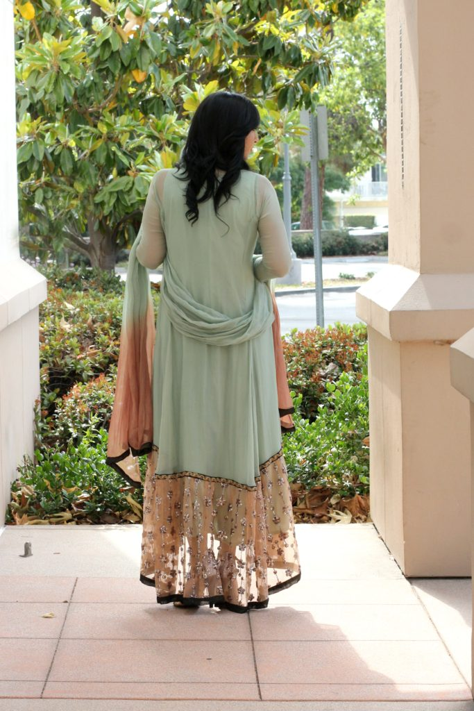 mint umsha dress chiffon