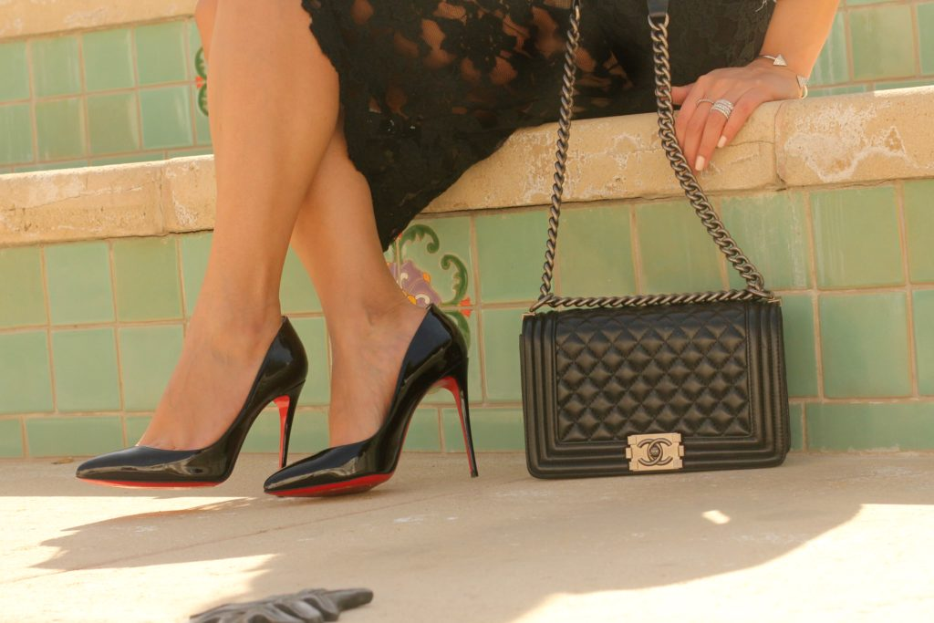 Chanel bag with Louboutins