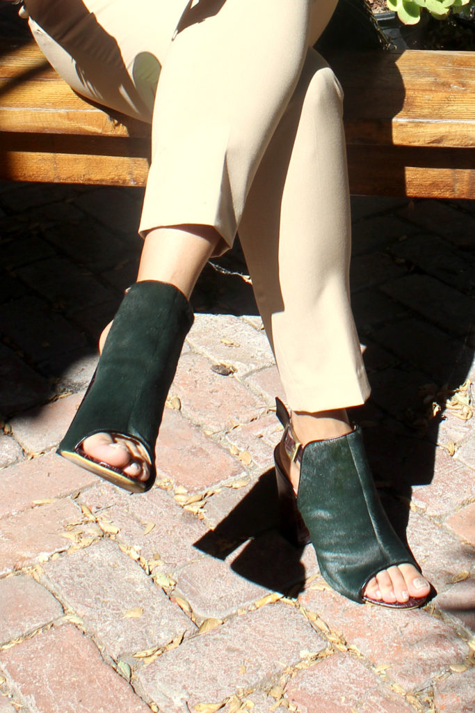 Olive Green booties Alysia style