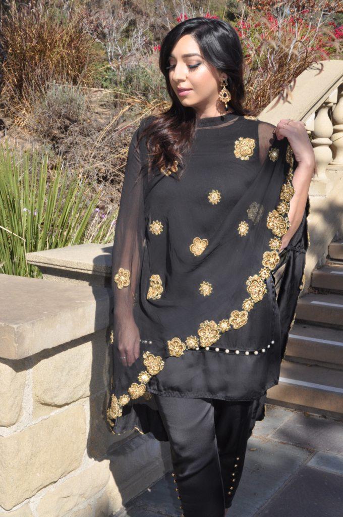 Elegant Fashion Cape Dress