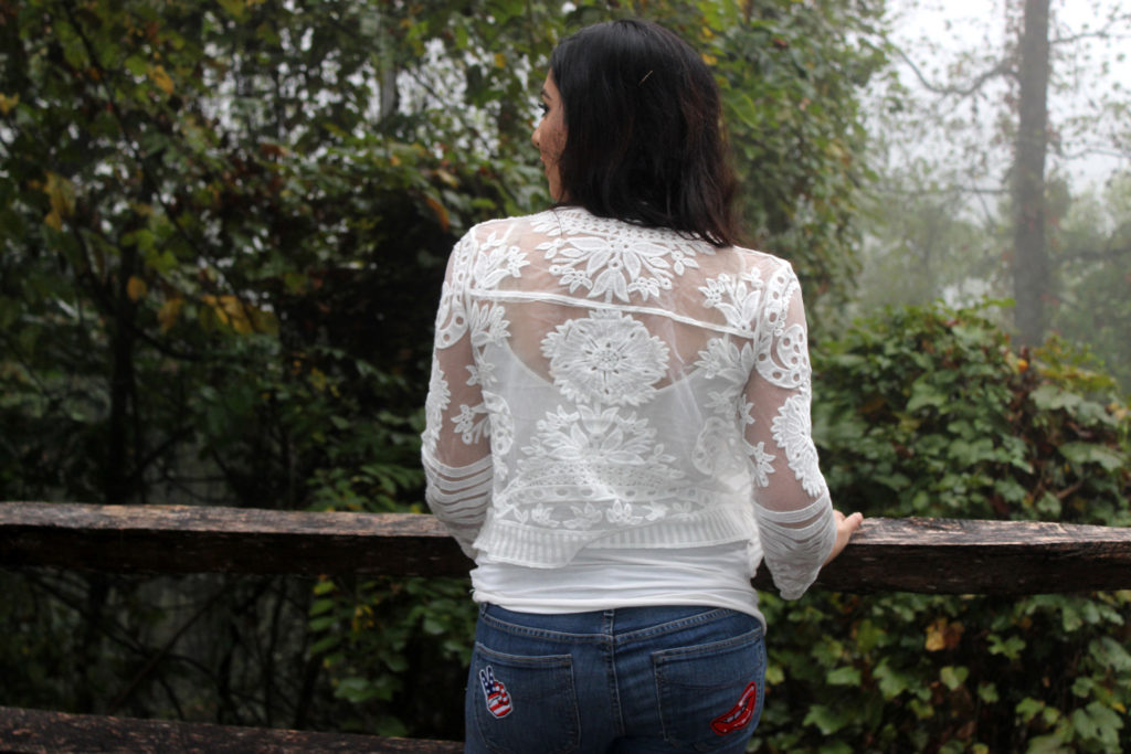 white sheer jacket