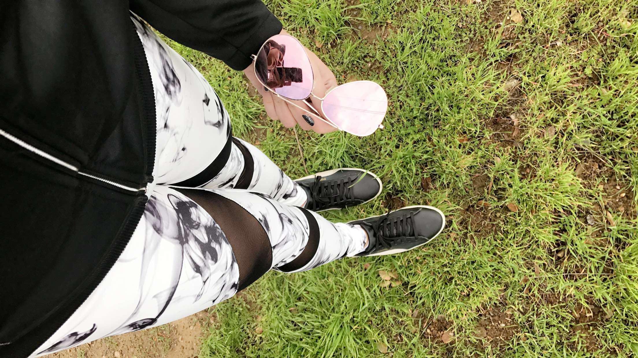 RoseWholeSale Marble Print Yoga Pants
