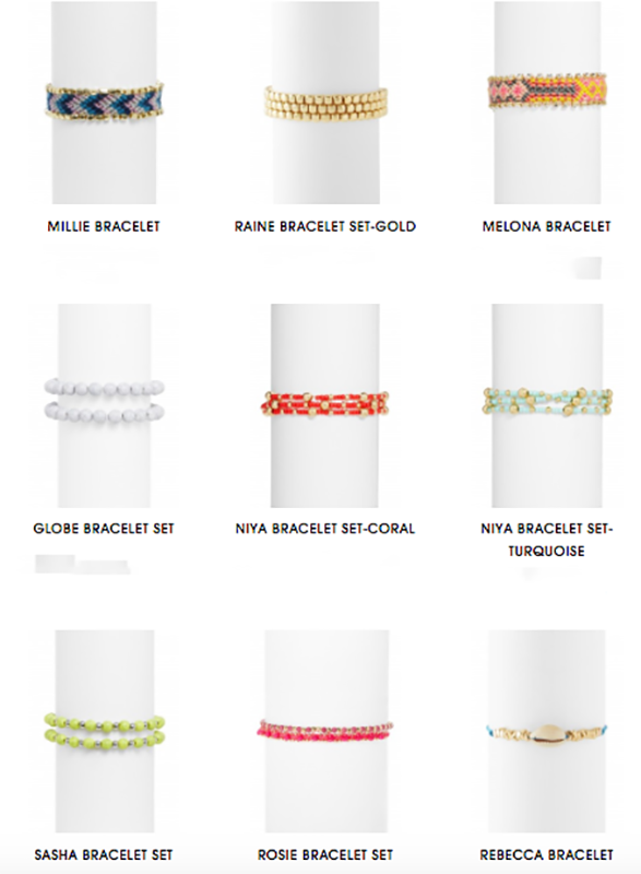 The funky layered bracelets