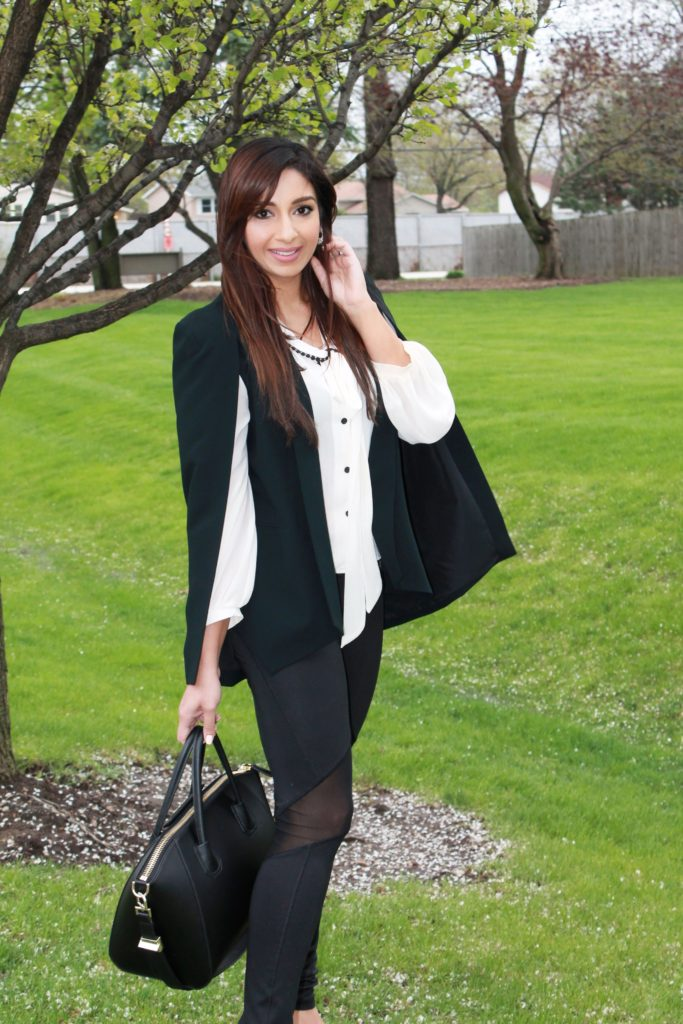 black cape blazer for fall