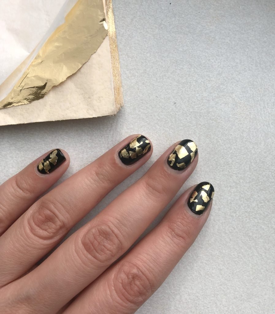 Gold Foil Nails Browngirlstyles