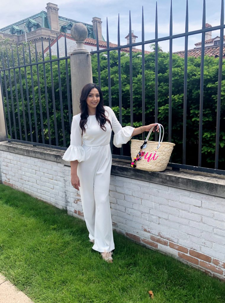 browngirlstyles century21 whitejumpsuit
