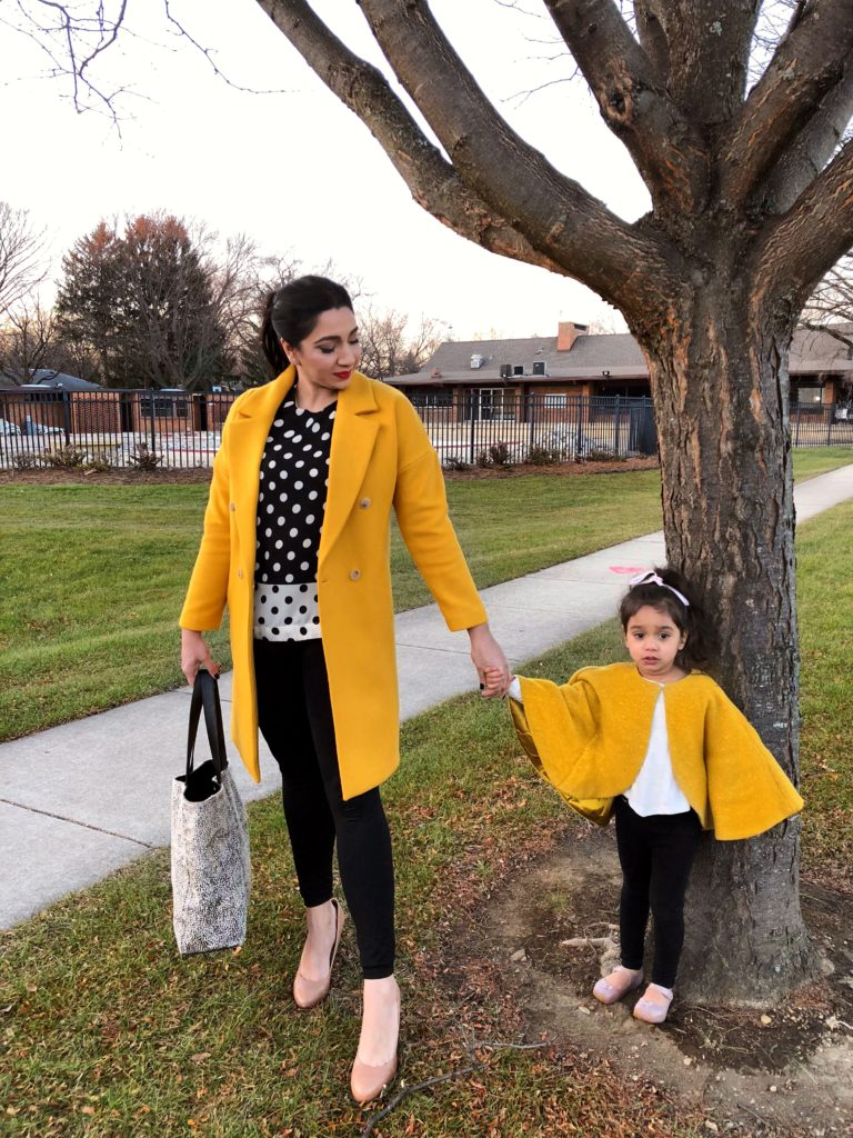 Matching outfits winter coats yellow milwaukee